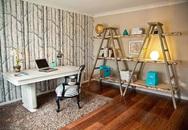 Biến tấu nội thất trong nhà bằng cách dùng thang để trang trí