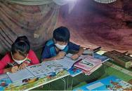 """2 học trò người Mông ở Yên Bái lên núi """" hứng sóng"""" 3G học trực tuyến"""