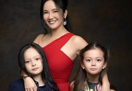 """Vẻ đáng yêu tuổi lên 8 của cặp song sinh lai Tây nhà """"Bống"""" Hồng Nhung"""