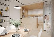Ngắm nhà nhỏ chưa tới 50m² được dày công thiết kế theo phong cách công nghiệp đơn giản nhưng sang trọng