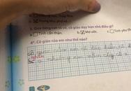 """Trả lời câu hỏi """"cô giáo của em như thế nào?"""", cô bé lớp 1 thật thà viết đáp án khiến giáo viên phải sửa vội"""