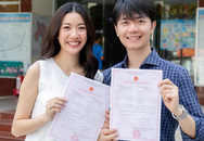 Á hậu Thúy Vân khoe giấy đăng ký kết hôn cùng chồng giàu có