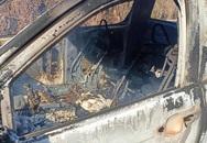 Đang xác định danh tính thi thể biến dạng trong xe bán tải bốc cháy ở Lâm Đồng