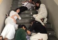 Chết cười với bộ ảnh học trò nằm la liệt khắp cầu thang, lớp học than thở mùa thi cuối kỳ