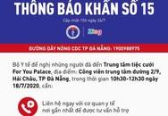 Bộ Y tế ra thông báo khẩn liên quan bệnh nhân 416 ở Đà Nẵng