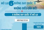 [Infographic] - Có gì đặc biệt ở 6 đường bay quốc tế Việt Nam vừa mở lại