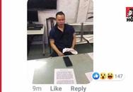 Lộ hình ảnh ông bầu Vũ Khắc Tiệp mặt be bét máu ngồi ở đồn công an, nghi bị giang hồ đòi nợ