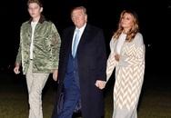 """Chiều cao """"khủng"""" cùng gương mặt điển trai của con trai út Tổng thống Trump lại khiến fan nữ phát sốt"""