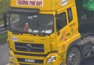 Ô tô tải liều lĩnh đi lùi trên cao tốc Hà Nội - Hải Phòng