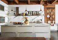 Ngây ngất với nét mộc mạc hiếm hoi bên trong căn phòng bếp gia đình hiện đại