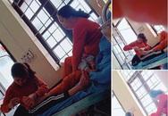 Hình ảnh con dâu cần mẫn ngồi cắt móng chân cho mẹ chồng trên giường bệnh khiến nhiều người xúc động