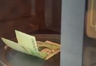 'Khóc ròng' vì cho tiền vào lò vi sóng khử trùng phòng Covid-19