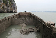 Bắt tàu đổ gần 300m3 bùn thải xuống Vịnh Hạ Long