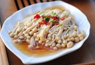 Nấm hấp cay nóng khai vị bữa ăn ngày lạnh