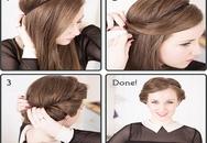 Cách vấn tóc với băng đô đơn giản nhưng cực xinh