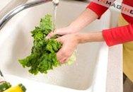 Những sai lầm khi làm sạch rau quả