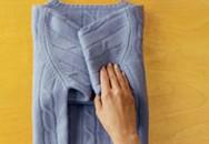 Cách gập áo len