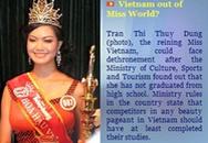 Globalbeauties đã rút tên Thùy Dung khỏi danh sách Miss World 2008