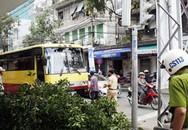 Xe buýt mất phanh, hơn 20 sinh viên thoát nạn
