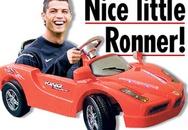 Ronaldo được đồng đội tặng ôtô đồ chơi