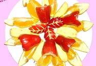 Khéo tay bày hoa quả ngày Tết