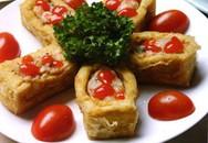 Món ngon cuối tuần: Đậu nhồi tôm sốt chua cay