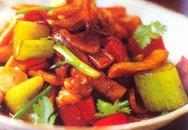 Thực đơn bữa tối: Mực xào cần tây