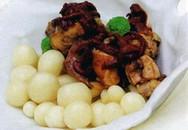 Món ngon cuối tuần: Thỏ và nấm sauce gấc tươi