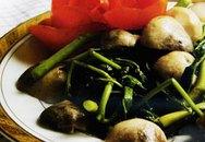 Món ngon từ rau: Rau nhút xào nấm rơm
