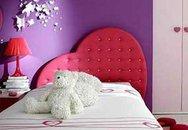 Phòng ngủ màu hồng cho con gái nhỏ