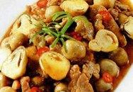 Thực đơn bữa trưa: Thịt kho nấm rơm