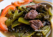Thực đơn bữa tối: Thịt bò nấu dưa