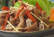 Thực đơn bữa trưa: Thịt heo xào sả ớt