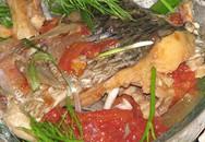 Thực đơn bữa trưa: Bún cá rô om cà chua