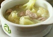 Thực đơn bữa tối: Canh sườn súp lơ