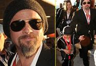 """Brad Pitt và """"cậu cả"""" Maddox tung tăng đi chơi"""