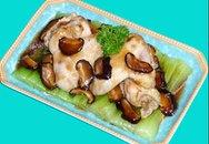 Thực đơn bữa tối: Cánh gà hấp nấm đông cô