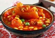 Thực đơn bữa trưa: Chân giò hầm đậu trắng