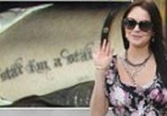 Lindsay Lohan khoe hình xăm mới
