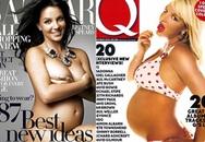 Ngắm sao nữ khỏa thân khi mang bầu