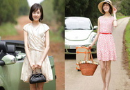 Váy xòe dễ thương cho bạn gái dịu dàng