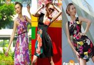 Váy hoa rực rỡ và nữ tính