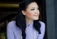 Hoa hậu Thùy Dung áo dài dịu dàng