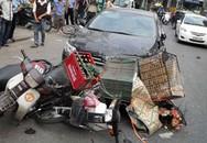 Xe Altis gây tai nạn liên hoàn, hất người lên capô