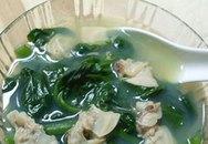 Canh mùng tơi nấu ngao