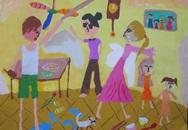 Giải A - Cuộc thi Vẽ tranh Nói Không với Bạo lực Gia đình