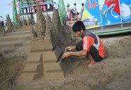 Lâu đài cát  trên biển