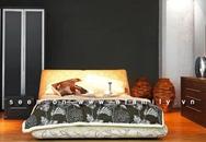"""Cách hay """"làm điệu"""" mảng tường đầu giường"""