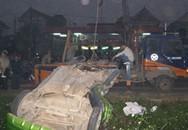 Xe Matiz bị tàu hỏa đâm văng xa 200m