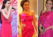 Mỹ nhân Việt khoe vẻ đẹp với váy hồng